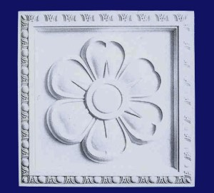 Flower Plaque With Egg and Dart Border